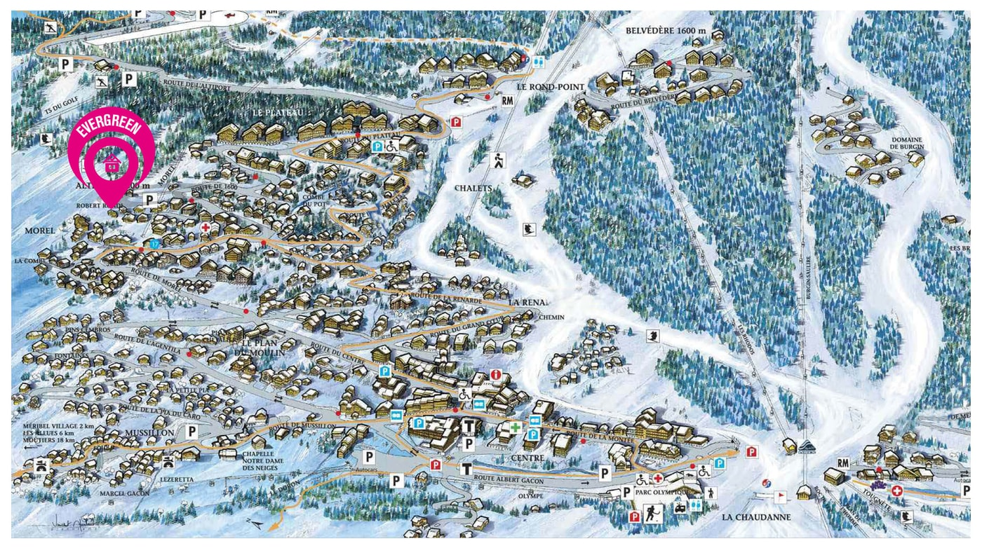 Map of Chalet Evergreen (15)
