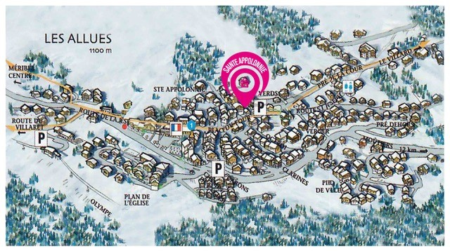 Map of Chalet Sainte Appolonnie (7)