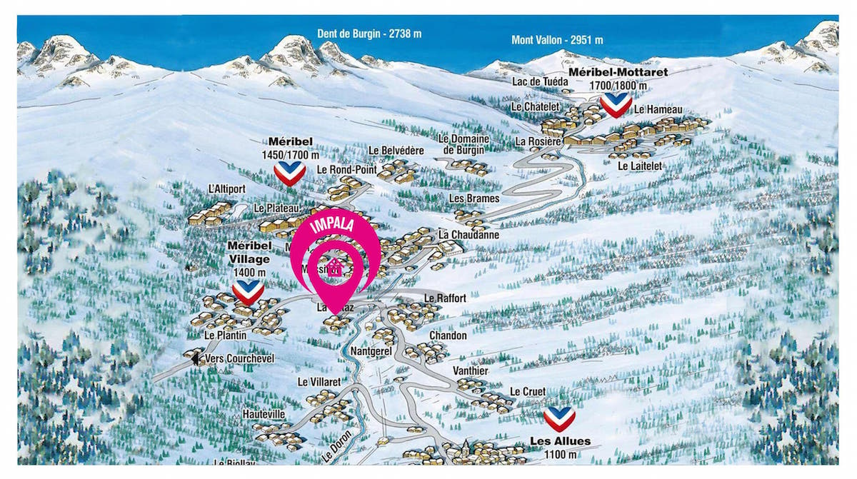 Map of Chalet Impala (14)